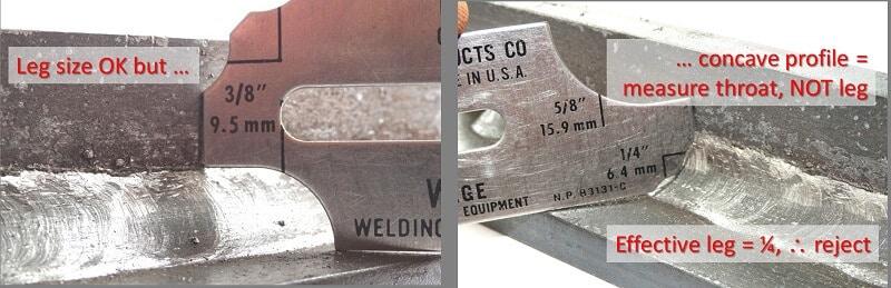 Structural welds - Convevity