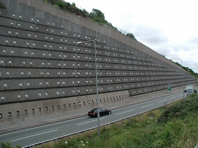 Anchored or Tieback Retaining Wall
